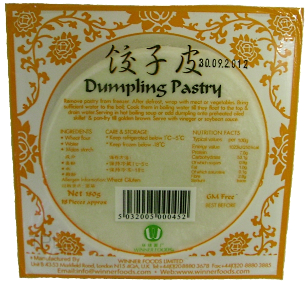 Chinese Dumpling Pastry Sheets