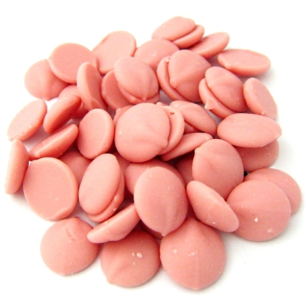 Pink Strawberry Chocolate Couverture Chips, buy online in ...