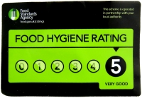 5 Star Food Hygiene Rating - Melbury & Appleton
